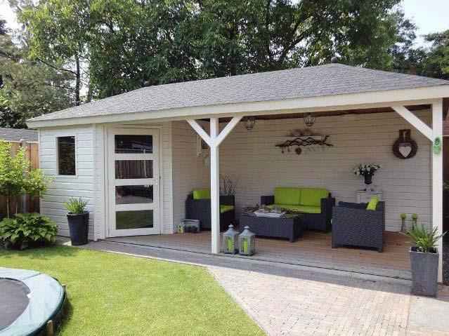 Realisatie tuinhuis Voorburg